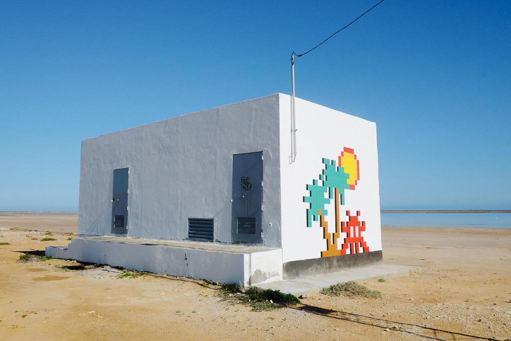 Djerba Invader, one of several larger mosaics.