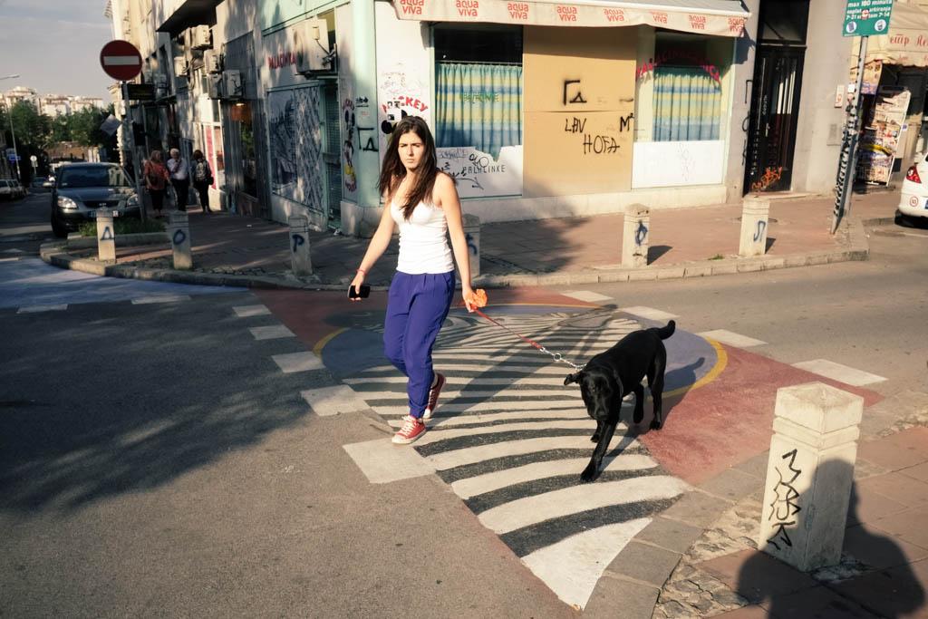 A real Zebra crossing in Dorcol, inner city Belgrade.