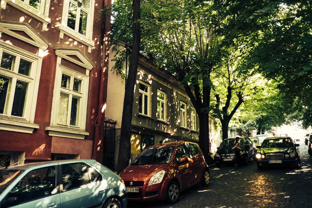 Leafy streets of Dorcol, Belgrade.