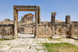 Tour of roman city Dougga in Tunisia