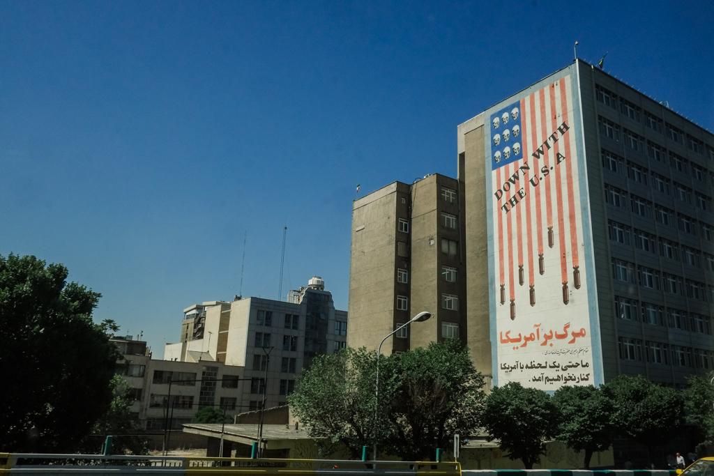 down with USA propaganda art tehran iran