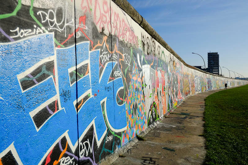 The Berlin east side gallery - river side