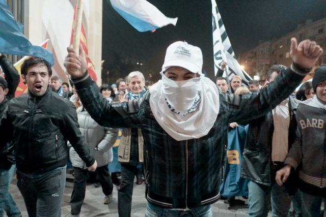 Protester - election macedonia 2013 1