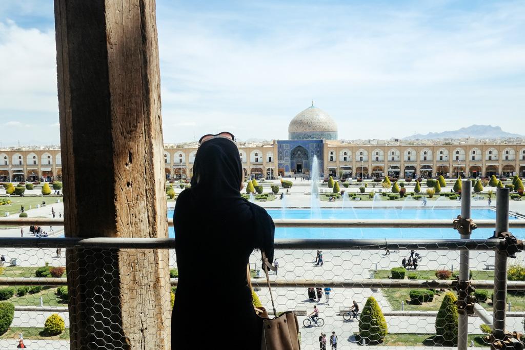 View from Ali Qapu palace, Esfahan, Iran.