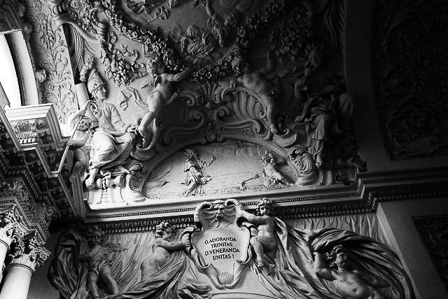 Ceiling sculptures - St Peter and Paul's Church Vilnius.