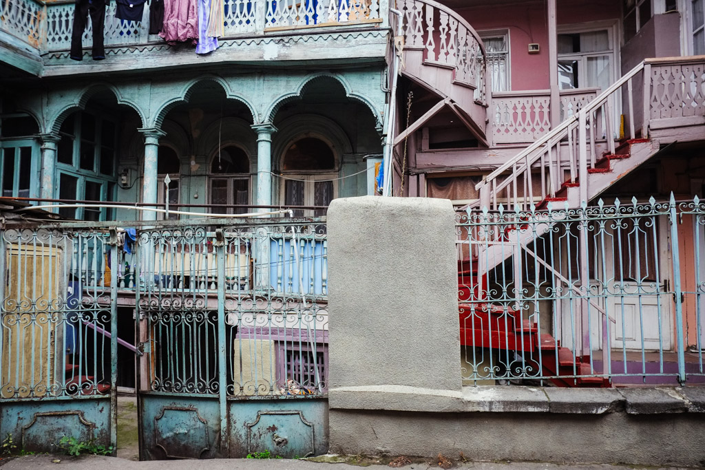 Old Tbilisi homes.
