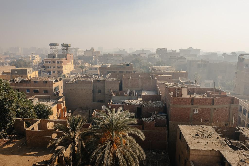 giza skyline egypt