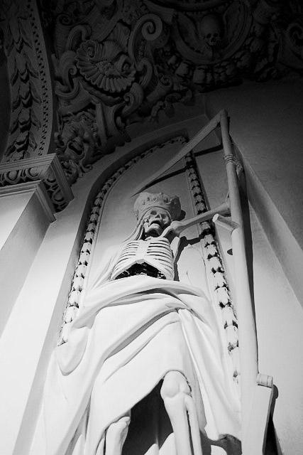 Grim Reaper - St Peter and Paul Church, Vilnius.
