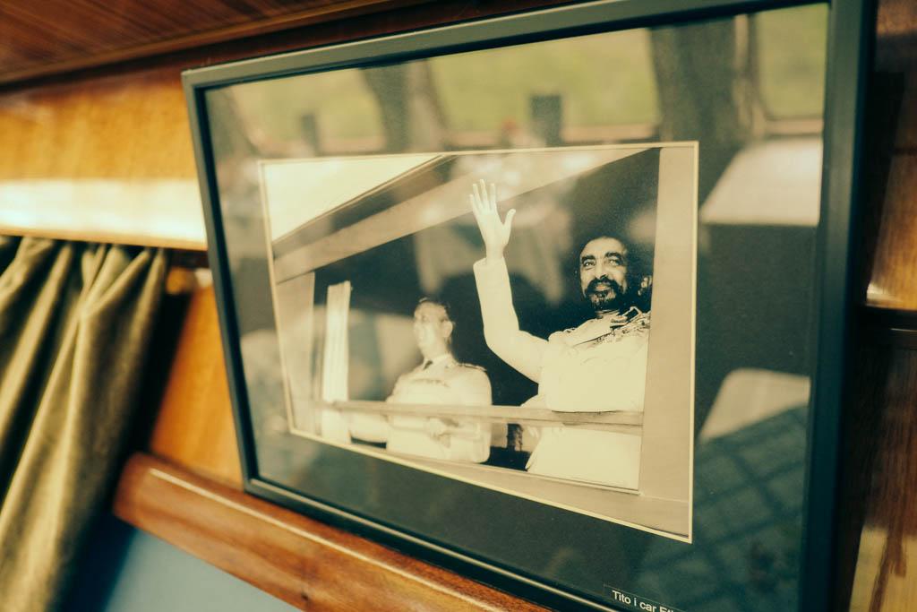 Haile Selassie on Tito's train