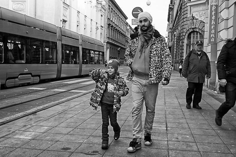 They're happy. Zagreb, Croatia.