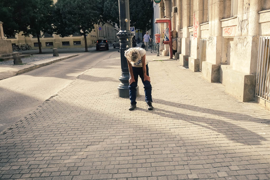 homeless on the streets of budapest