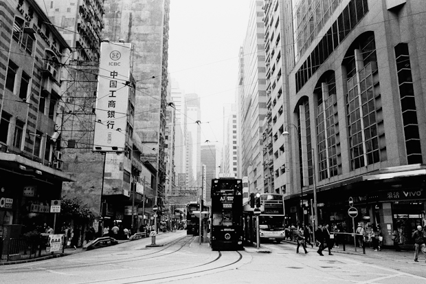 Hong Kong streets, 2012 on black and white  film