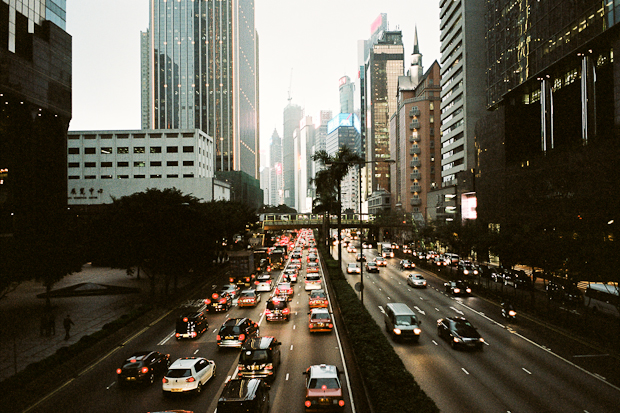 The busy streets of Hong Kong