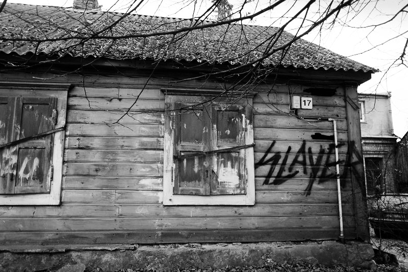 Good taste in houses, and metal bands. Uzupis, enclave of Lithuania.