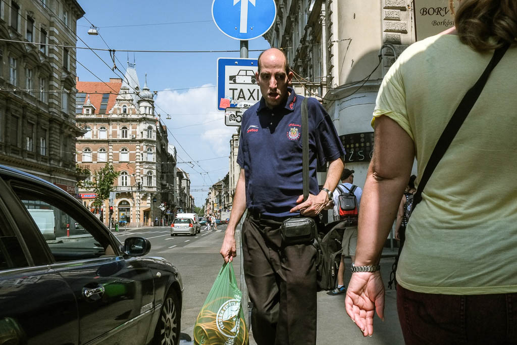 street photography on the streets of budapest