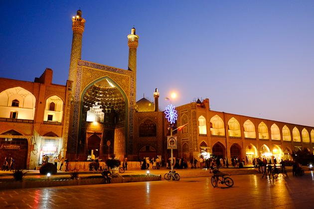 Imam Mosque after dark.