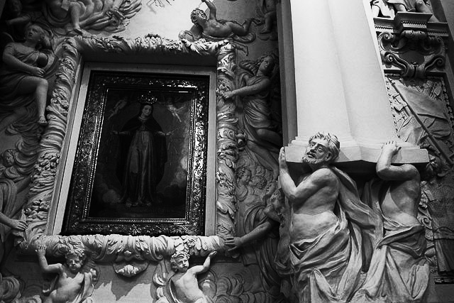 Sculpture at St Peter and Paul's - Lithuania