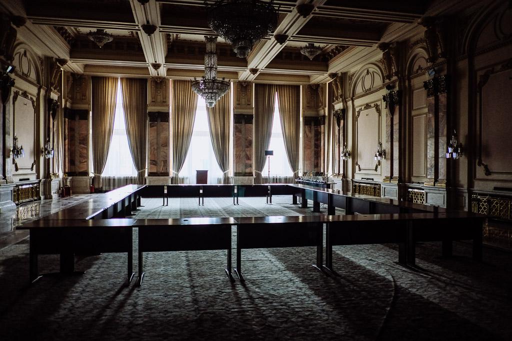 interior palace of parliament bucharest romania