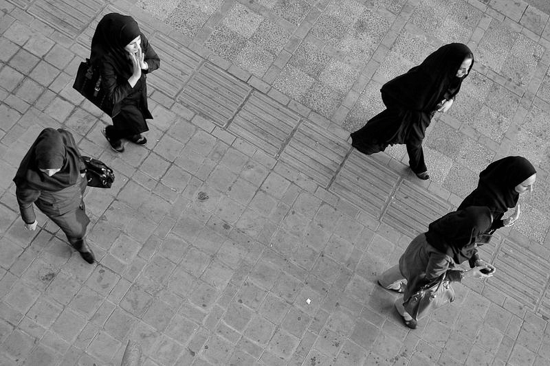 from above - iran street photography