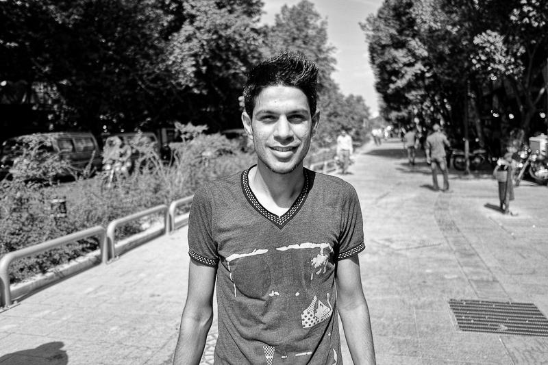 Boy on the streets of Tehran, Iran
