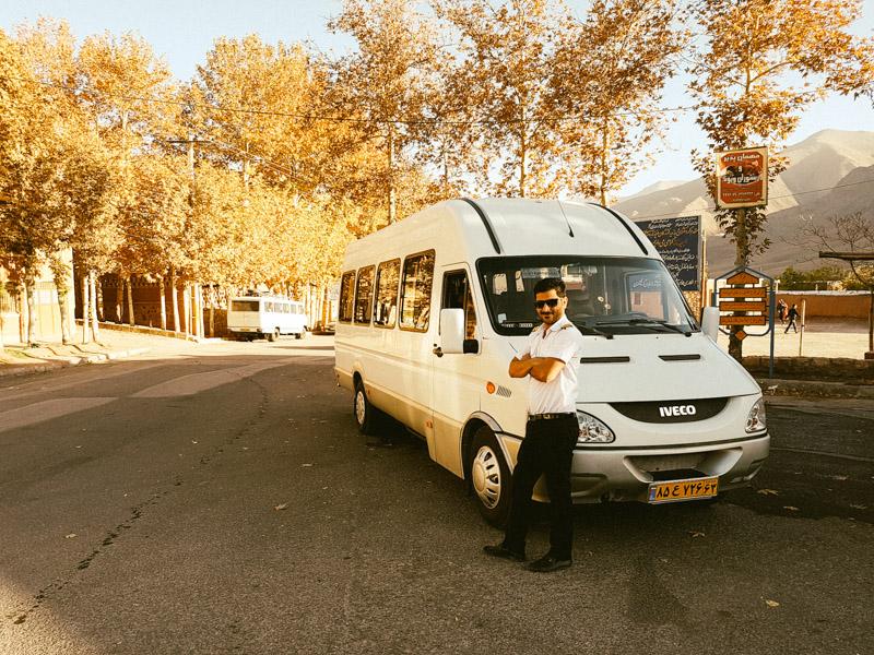 iranian tour bus