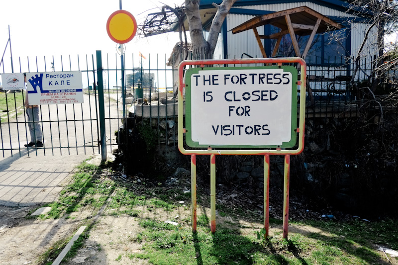 Due to potential rioting, the Kale Fortress of Skopje was closed