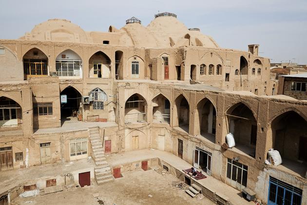 kashan bazaar roof activities, Iran