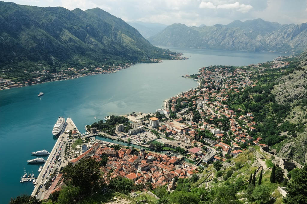 kotor montenegro - looking down