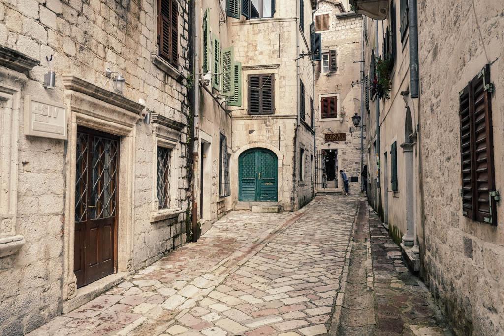 kotor montenegro - old town streets
