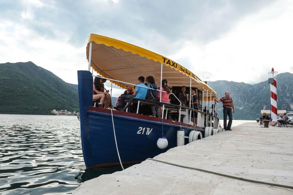 taxi perast kotor montenegro