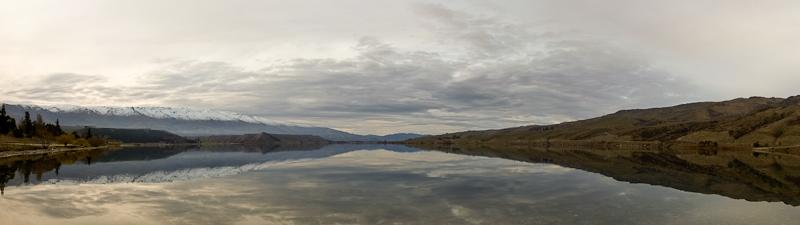 lake reflection panorama - New Zealand