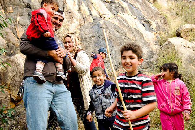 Visitors enjoying Lesmurdie Falls National Park
