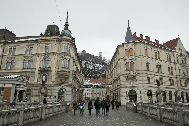 Downtown Ljubljana, Slovenia.