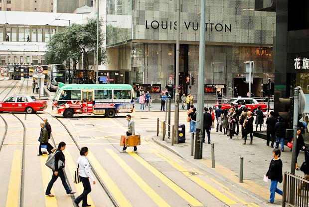 louis vuitton from a hong kong tram