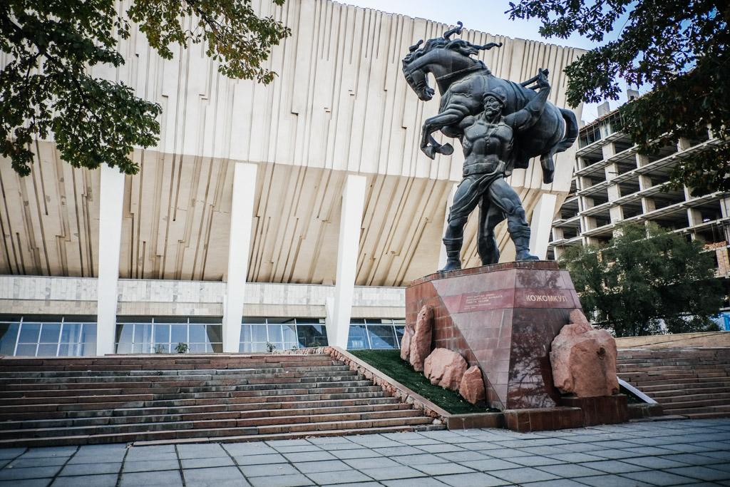 manis horse statue bishkek