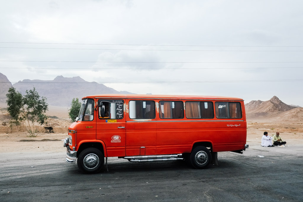mercedes bus old iran