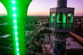 minaret iran yazd view