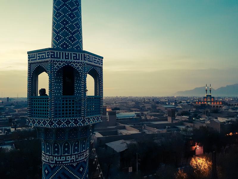 minaret view yazd