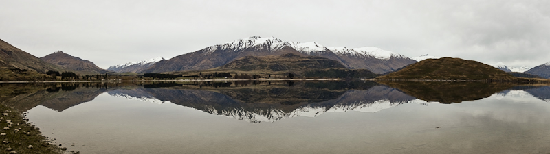 Panoramic New Zealand - yet another mirror lake