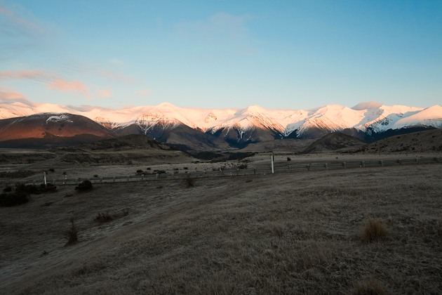 the morning - near castle hill new zealand