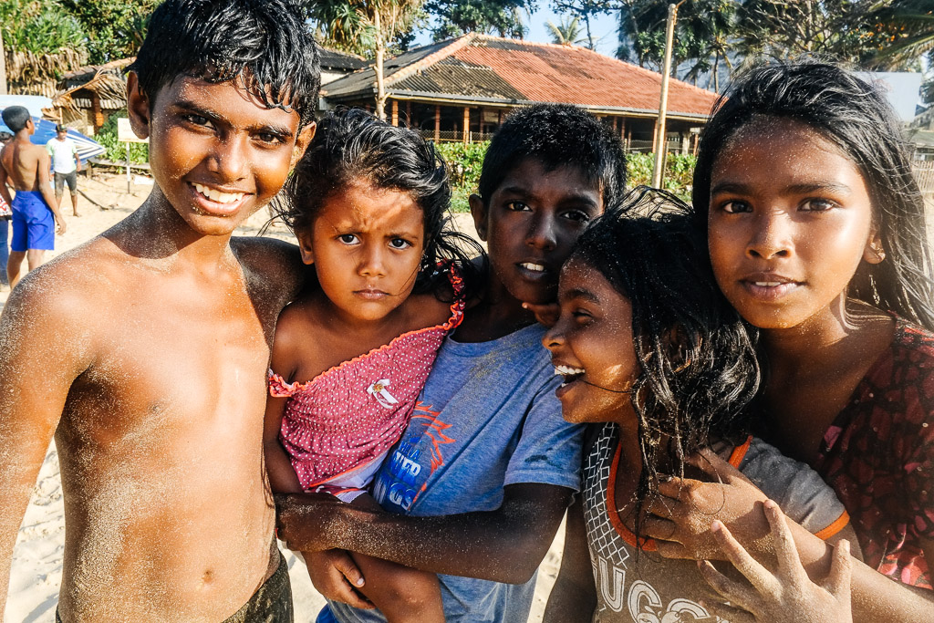 Beach kids, Mount Lavinia, Sri Lanka
