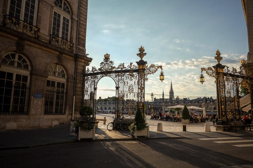 palace stanislas nancy france at sunset