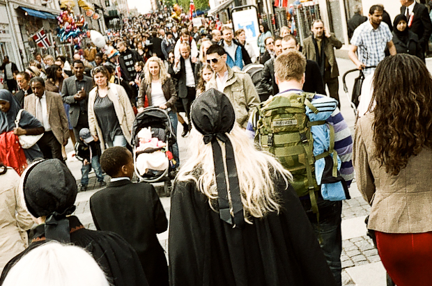 Crowds during Norway National Day