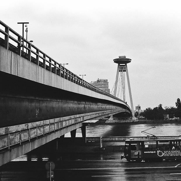 Novy Most bridge UFO - Bratislava Soviet architecture