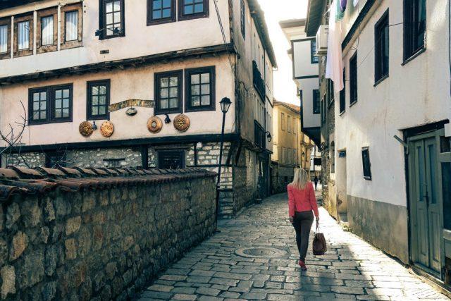 Ohrid Macedonia. Beautiful lady.