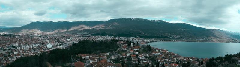Panoramic photo of Ohrid Macedonia