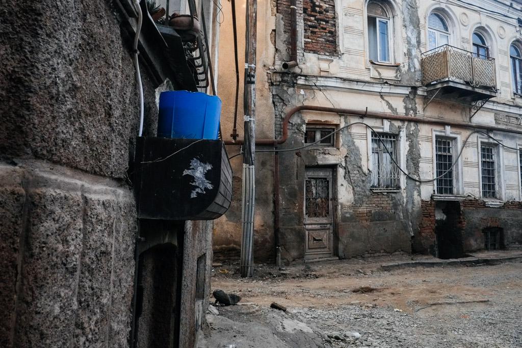 Around every corner, decay. Old Tbilisi.