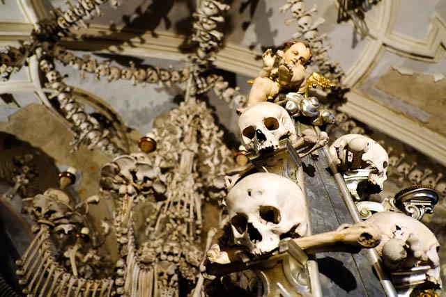 Hi! I'm a human bone angel! Sedlec Ossuary, Kutna Hora, Czech Republic.