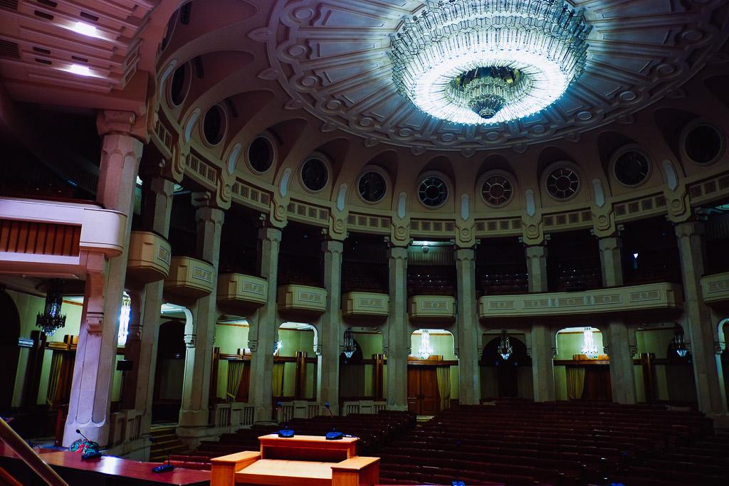 palace of parliament interior communist architecture of Romania