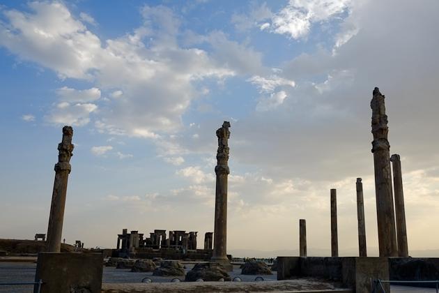 Magical view of Persepolis, Iran